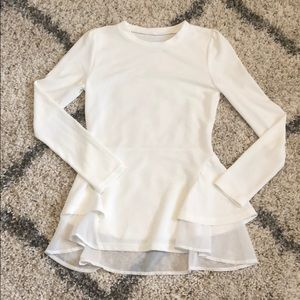 Tops - NEW White boutique blouse. Sz Medium